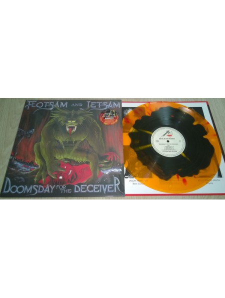 FLOTSAM AND JETSAM-Doomsday For The Deceiver LP (Ltd 200 Copies Orange/Black  With Red And White splatter)